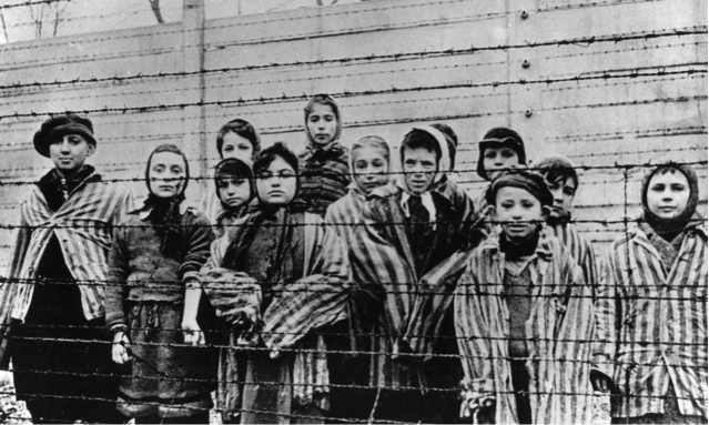 Children in the Auschwitz-Birkenau concentration camp. Photograph: Imagno/Getty Images